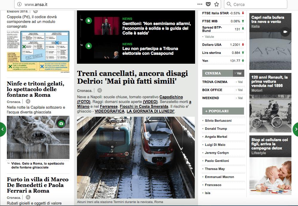 I siti di notizie riescono a ottimizzare lo spazio per tutti gli elementi delle pagine, ma sono spesso confusi. LorenzoDesign.it
