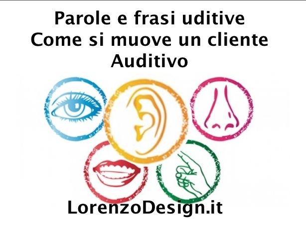 Parole e frasi uditive come si muove un cliente auditivo