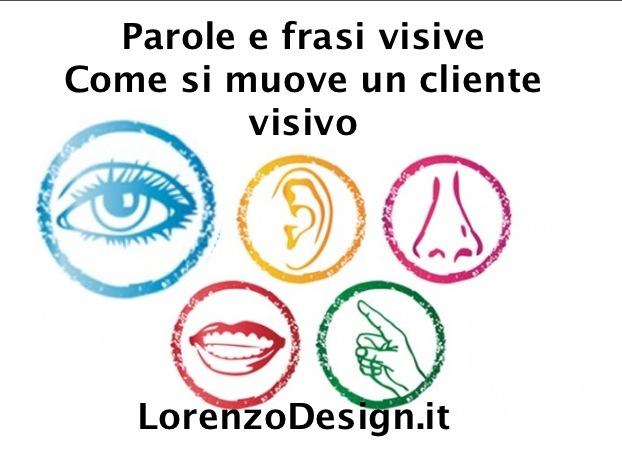 Parole e frasi visive Come si muove un cliente visivo