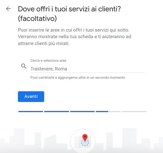 servizi per i tuoi clienti - Google My Business